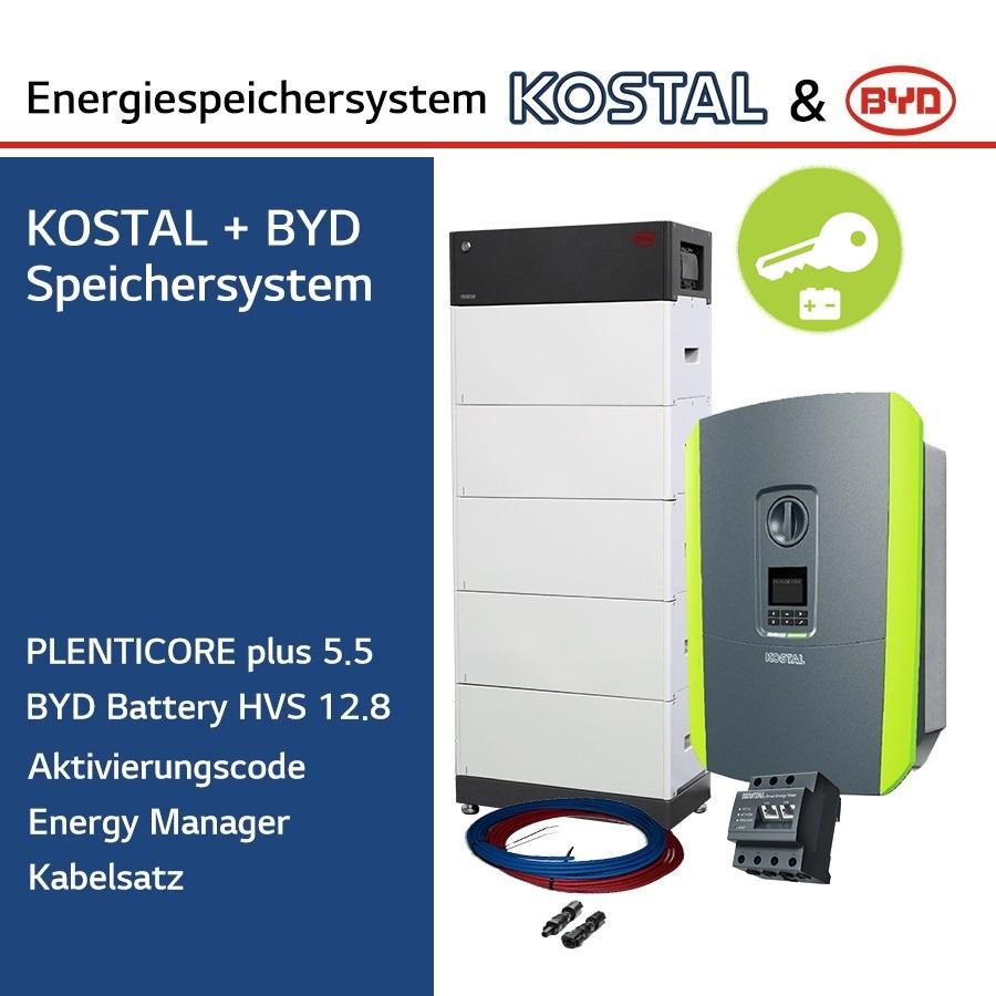KOSTAL/BYD 3-Ph.Energiespeichersystem PLC5.5/H12.8