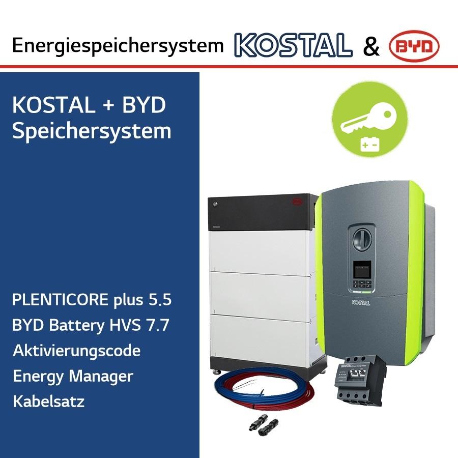 KOSTAL/BYD 3-Ph.Energiespeichersystem PLC5.5/H7.7
