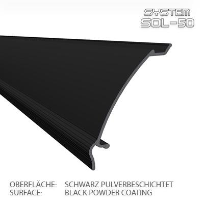 SOL-50 Premium Abschlussblende 2m schwarz