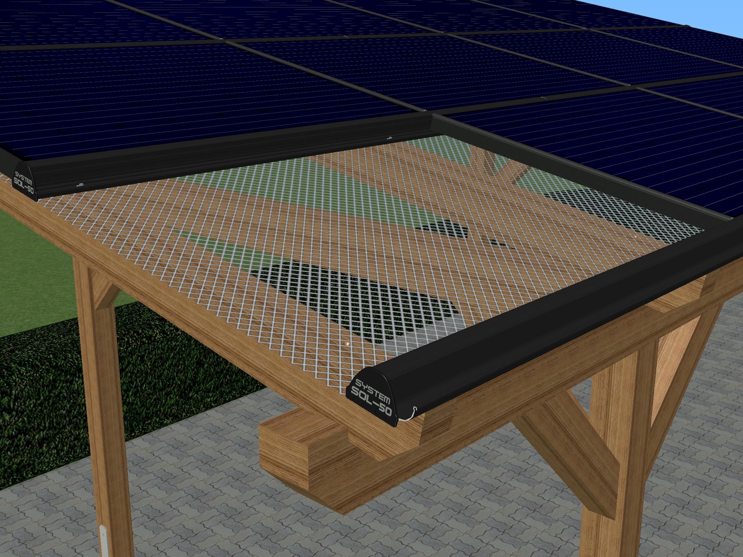 sol 50 solarcarport regenrinne 3m schwarz sen shop. Black Bedroom Furniture Sets. Home Design Ideas